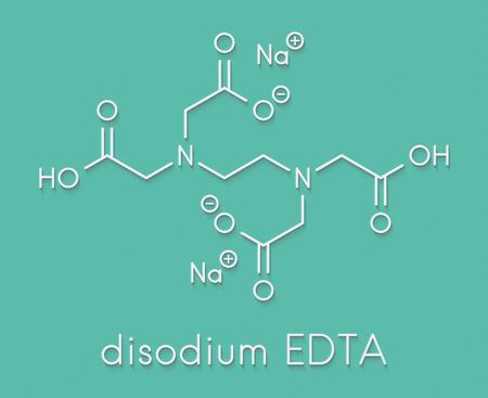 Disodium edetate (disodium EDTA) drug molecule. Skeletal formula.