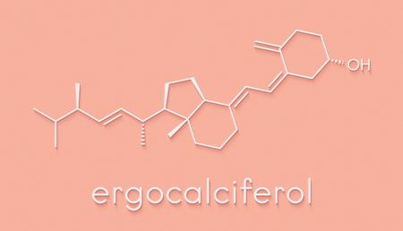 Ergocalciferol (vitamin D2) molecule. Skeletal formula.