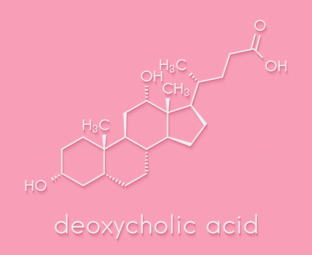 lipid: Deoxycholic acid bile acid molecule. Also used as drug. Skeletal formula. Stock Photo
