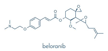 Beloranib obesity drug molecule. Skeletal formula. Vector Illustration