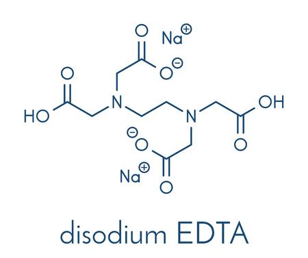 이 나트륨 EDTA (EDodium diodium) 약물 분자. 골격 공식.