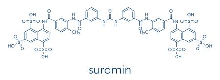 Suramin sleeping sickness drug molecule. Skeletal formula.