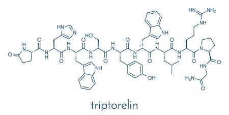 Triptorelin gonadotropin releasing hormone agonist drug molecule. Skeletal formula.