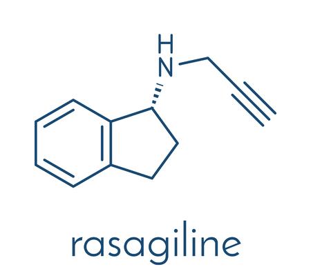 Rasagiline Parkinsons disease drug molecule.