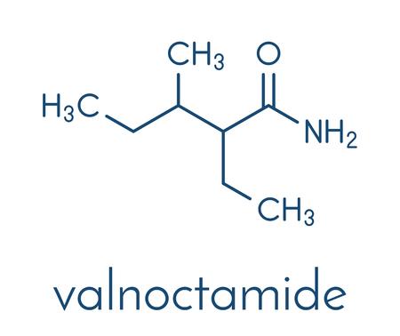 Valnoctamide sedative drug molecule.
