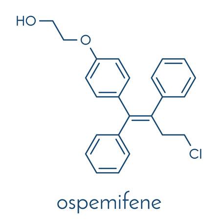 Ospemifene dyspareunia drug molecule.