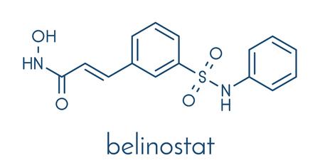 Belinostat cancer drug molecule.