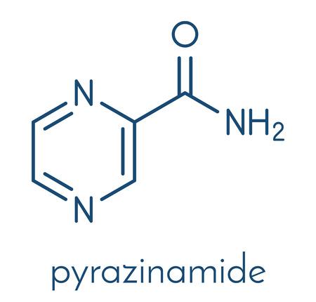 Pyrazinamide tuberculosis drug molecule.