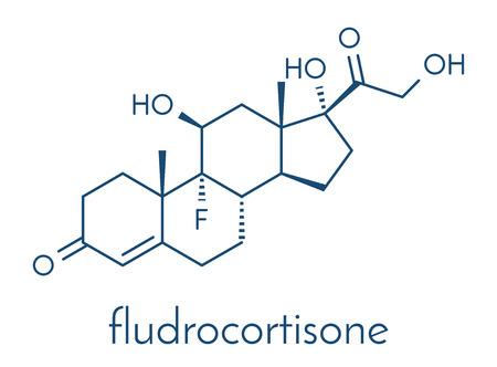 Fludrocortisone aldosterone hormone substitution drug molecule.