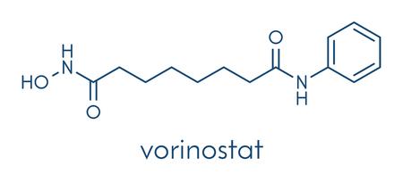 Vorinostat cutaneous T cell lymphoma drug molecule.