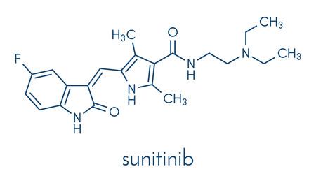 Sunitinib cancer drug molecule.