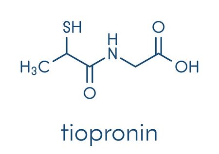 Tiopronin cystinuria drug molecule.