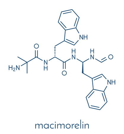 Macimorelin adult growth hormone diagnostic drug molecule.