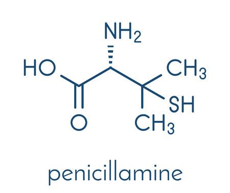 Penicillamine drug molecule. Banco de Imagens - 89975884