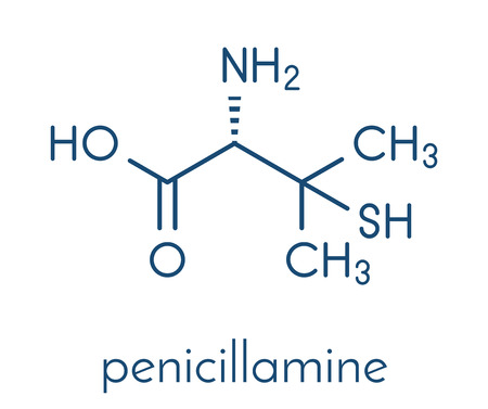 Penicillamine drug molecule.