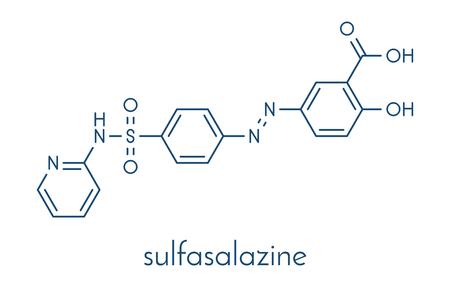 Sulfasalazine drug molecule. Banco de Imagens - 89975888