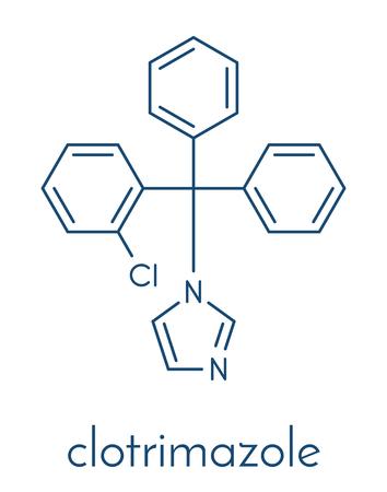 Clotrimazole antifungal drug molecule.