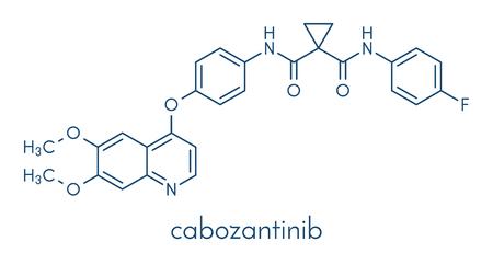 Cabozantinib cancer drug molecule.