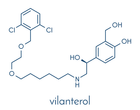 Vilanterol COPD drug molecule. Illustration