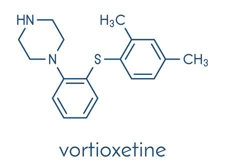 Vortioxetine Antidepressivum Medikament Molekül.
