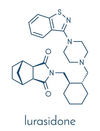 Lurasidon atypisches Antipsychotikum Molekül.