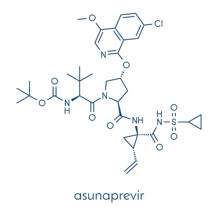 Asunaprevir hepatitis C virus (HCV) drug molecule.