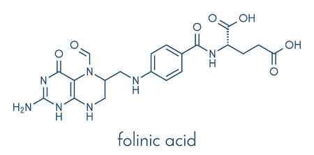 Folinic acid (leucovorin) drug molecule.