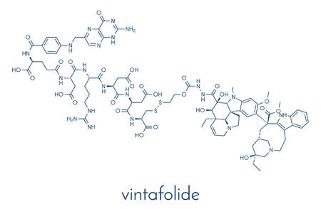 Vintafolide 암 약물 분자. 일러스트