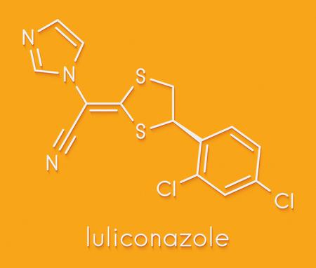Luliconazole antifungal drug molecule. Skeletal formula.