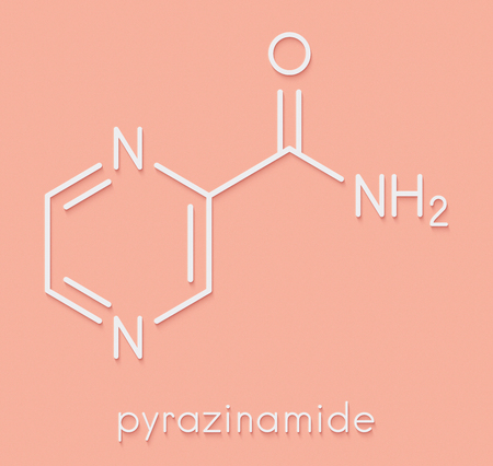 ピラジナミド結核薬物の分子。骨格式。 の写真素材・画像素材 Image ...