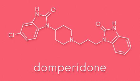 ドンペリドン吐き気と嘔吐抑制薬物分子.また、授乳を促進するために使用されます。骨格式。