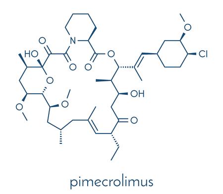 pimecrolimus eczema (atopic dermatitis) drug molecule. Skeletal formula.