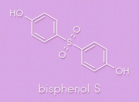 Bisphenol S (BPS) plasticizer molecule  Used as curing agent