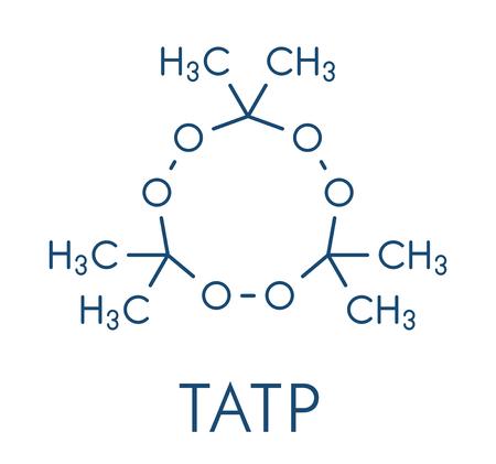 Triacetone triperoxide (TATP, acetone peroxide) explosive molecule. Skeletal formula.