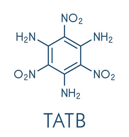Triaminotrinitrobenzene (TATB) 분자.