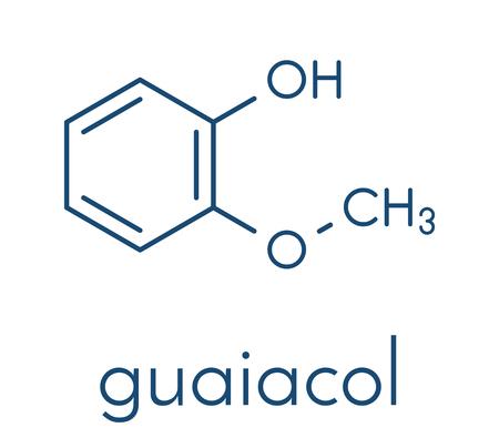 Guaiacol aromatic molecule.
