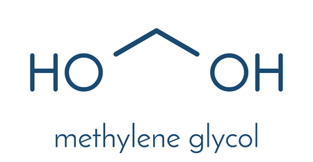 Methylene glycol (methanediol, formaldehyde monohydrate) molecule. Stock Vector - 91887484