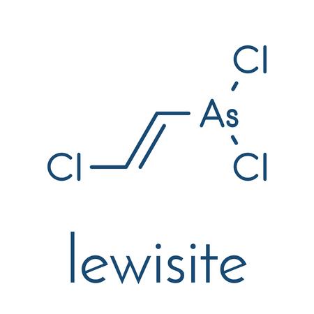 Lewisite chemical weapon molecule.