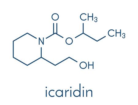 Icaridin (picaridine) insect repellent molecule. Banco de Imagens - 91832293
