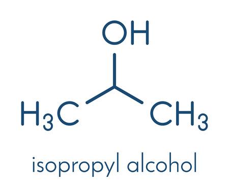 Isopropylalcohol (isopropanol, 2-propanol) molecule.  イラスト・ベクター素材