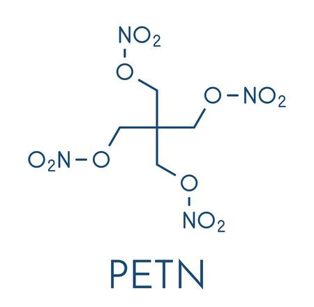 Pentaerythritol tetranitrate (PETN) molecule.