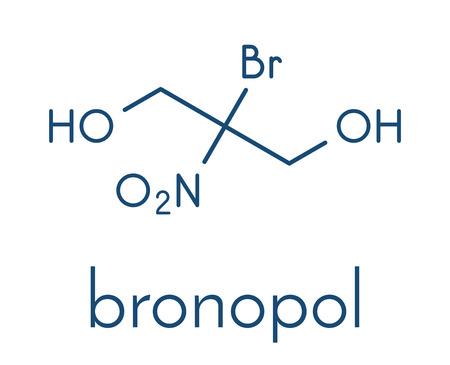Bronopol preservative molecule. Possibly carcinogenic through nitrosamine formation. Skeletal formula. Stock Vector - 91880996