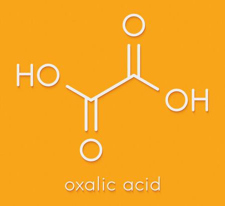 Oxalic acid molecule. Skeletal formula. Stock Photo
