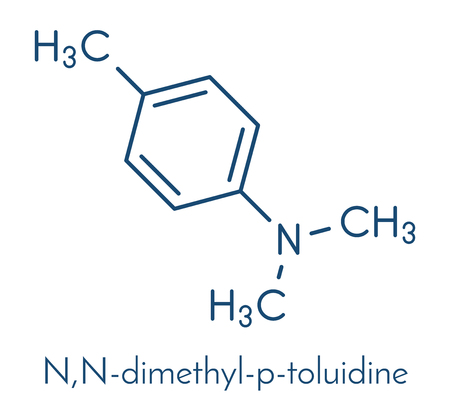 N,N-dimethyl-p-toluidine (N,N,4-trimethylaniline) polymerization catalyst molecule. Skeletal formula.