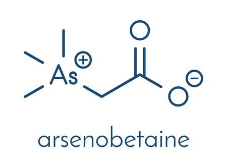 Arsenobetaine organoarsenic molecule. Main source of arsenic present in fish. Skeletal formula.