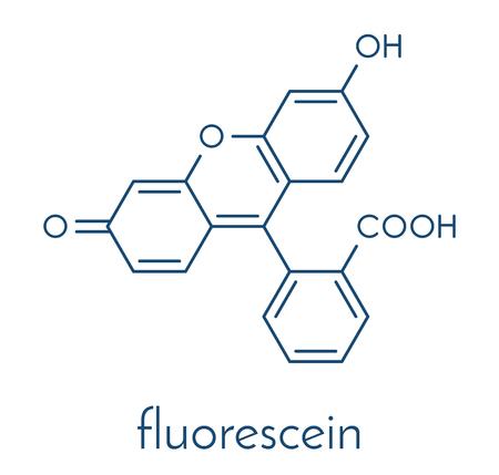 Fluorescein fluorescent molecule. Skeletal formula.