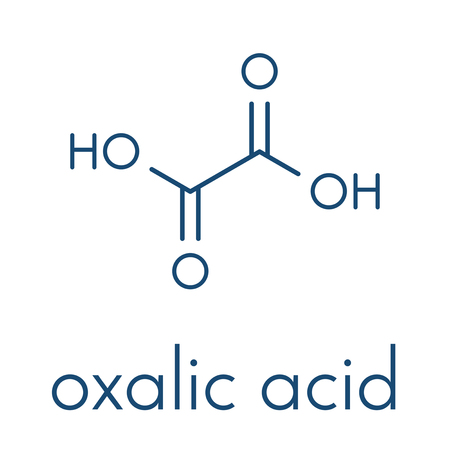 Oxalic acid molecule. Skeletal formula. Ilustracja