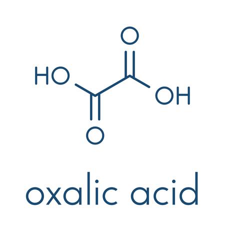 Oxalic acid molecule. Skeletal formula. Illustration