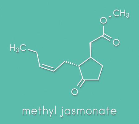 Methyl jasmonate plant stress signal molecule. Skeletal formula.