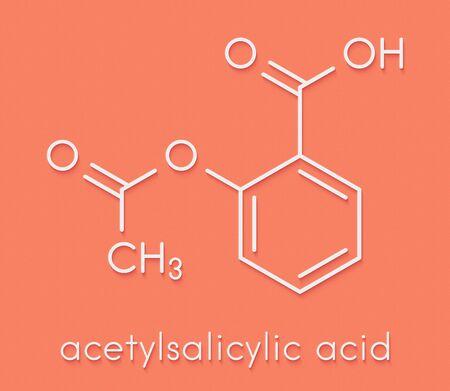 Acetylsalicylic acid (aspirin) drug molecule. Skeletal formula. Reklamní fotografie